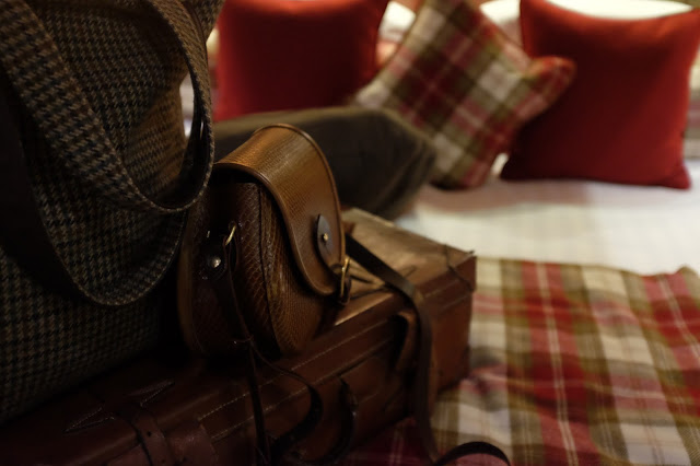 Luggage in the room - :Luxury Scottish, Araminta Campbell bag.