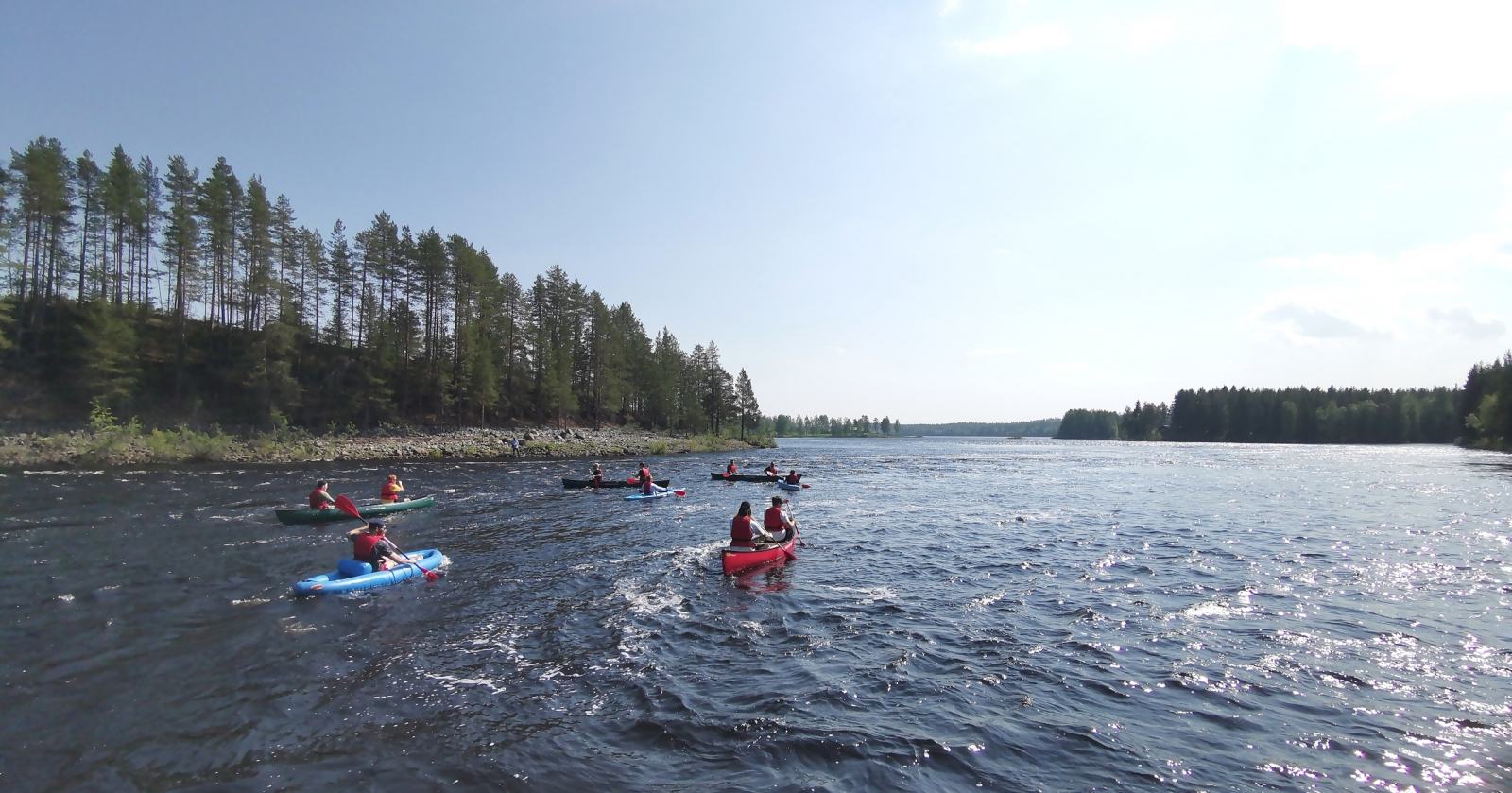 River Rafting, Lapland Canoe Trips and Adventures - Swedish Lapland in Summer