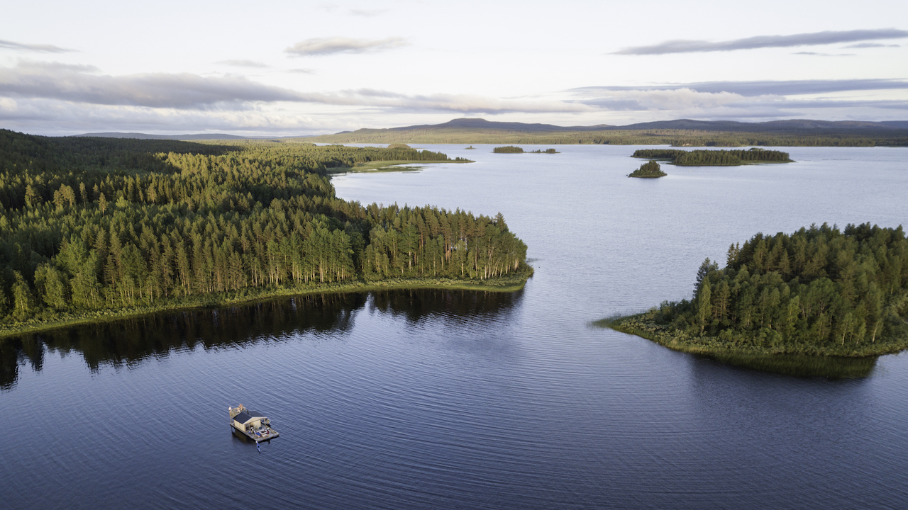 Floating Sauna in Swedish Lapland - Summer Holidays in Sweden