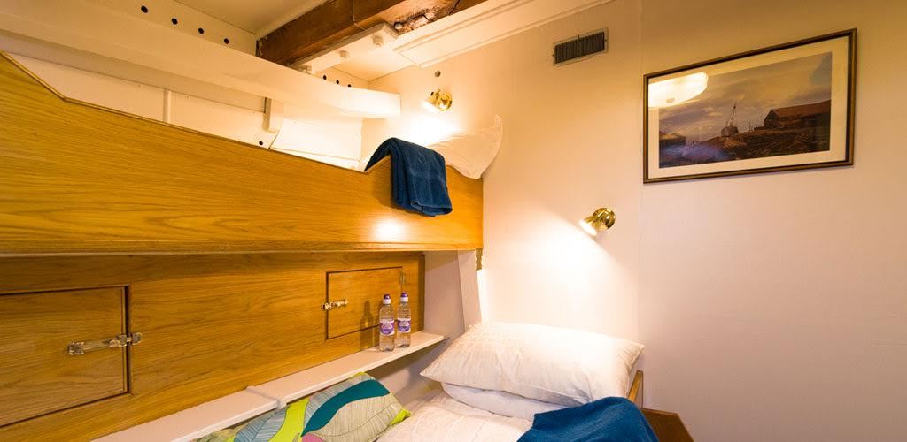 Cabins are either bunks or double beds - Norway Fjord Cruise