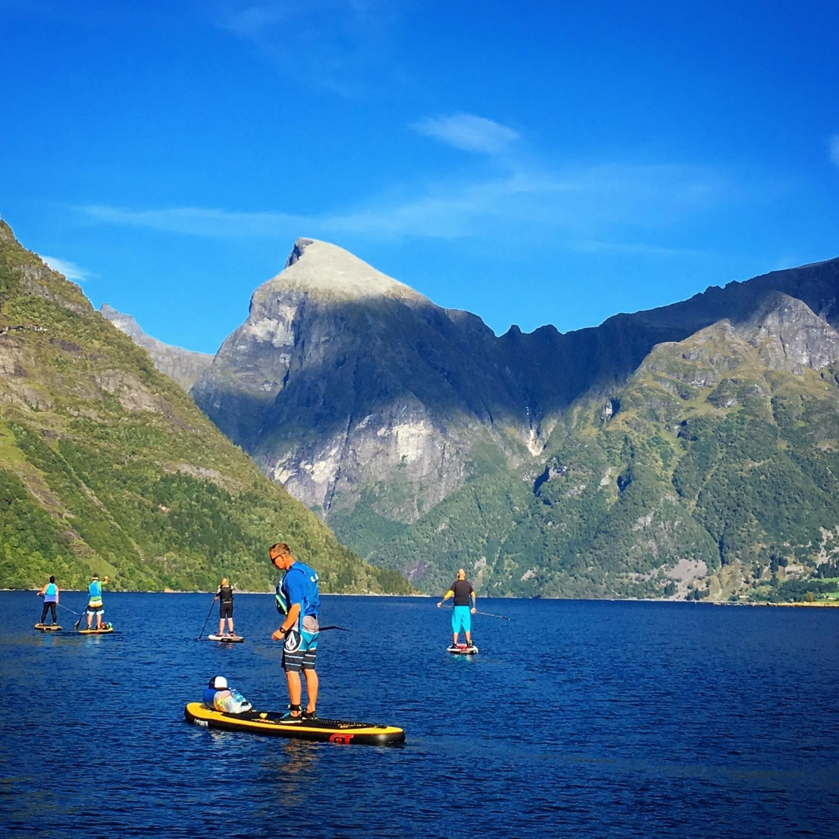SUP time in the Norwegian fjords! Private crusing at it's best