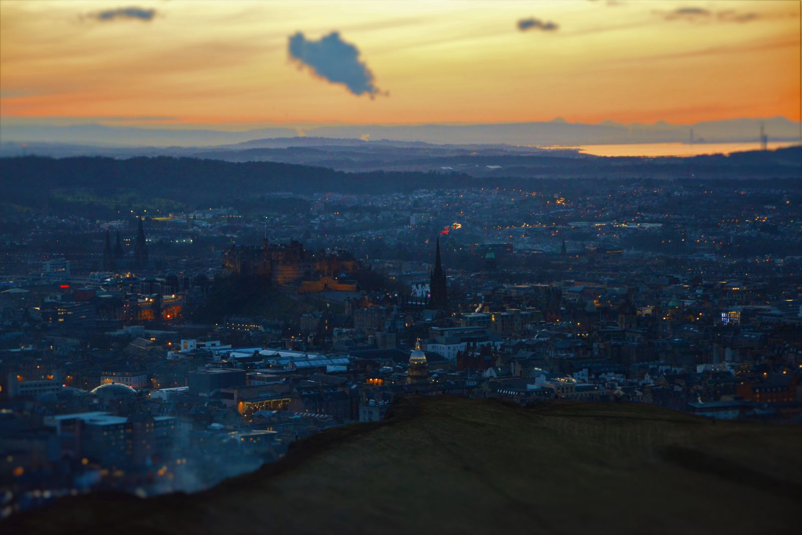 Edinburgh Castle from Arthurs Seat