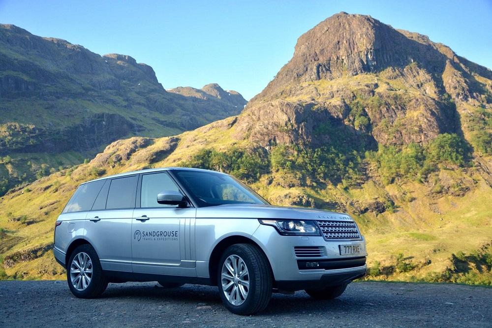 Luxury Range Rover Hire in Scotland with Luxury Travel Experts Sandgrouse Travel
