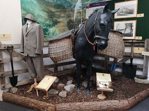 Balmoral Castle museum exhibit traditional Highland Pony Panniers