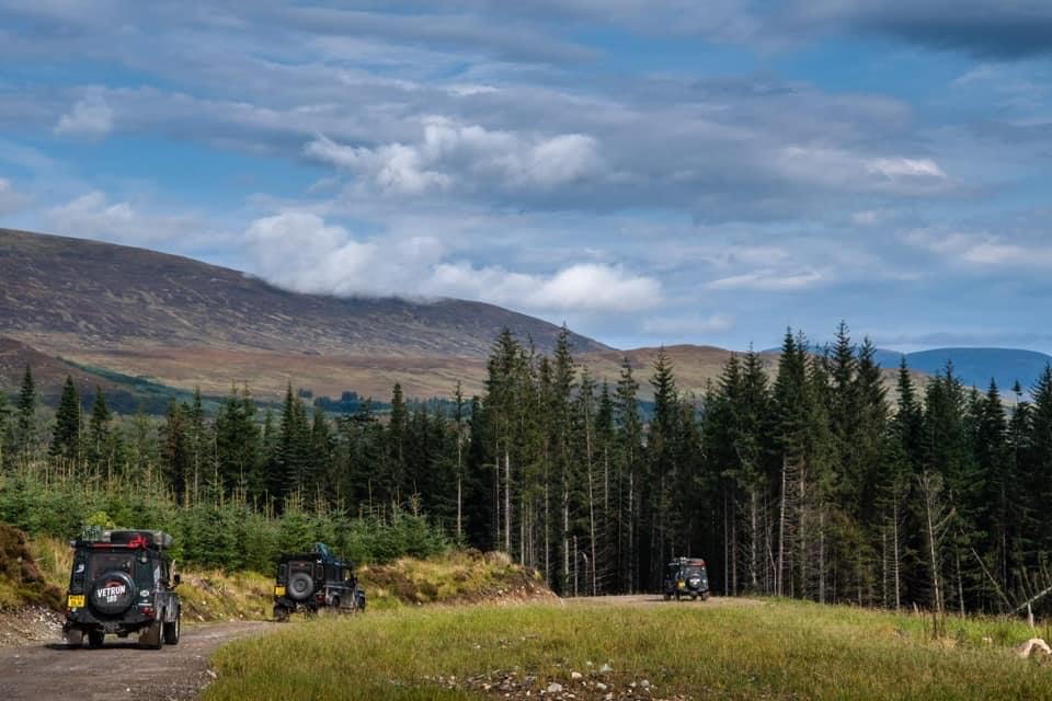 Coast to Coast across Scotland with injured veterans by Land Rover