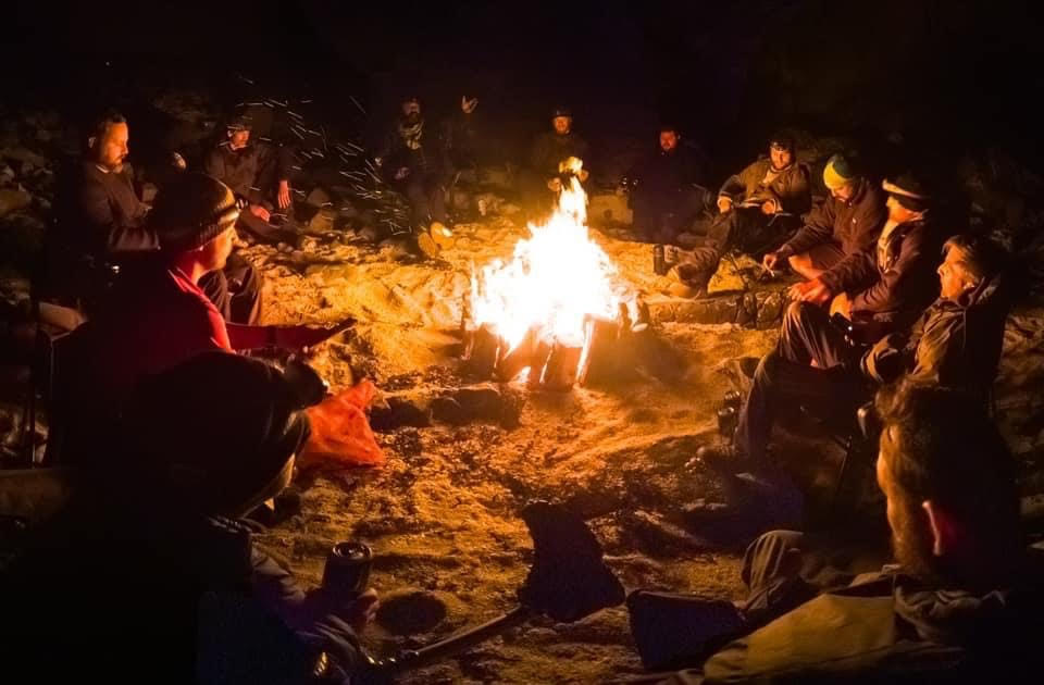 Scottish campfires in the wilderness (with permission from land owners)
